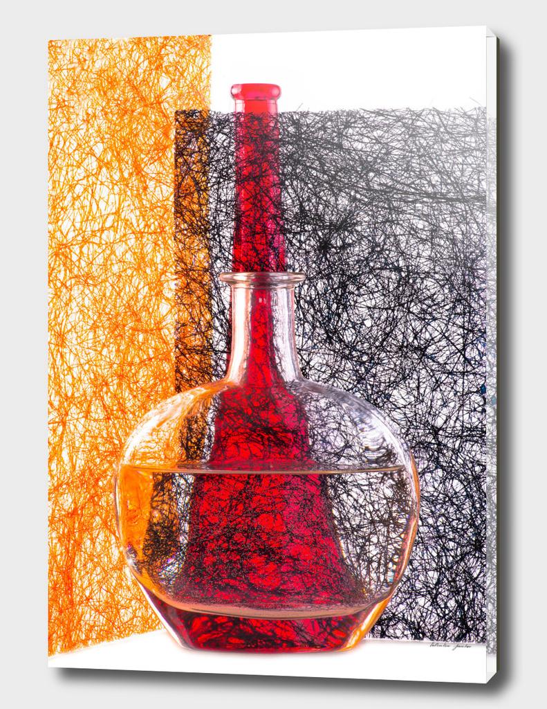 Photograffity. Red bottle