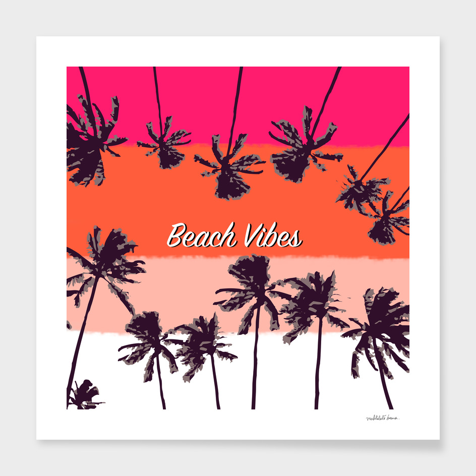 Palm Trees ( Coral )