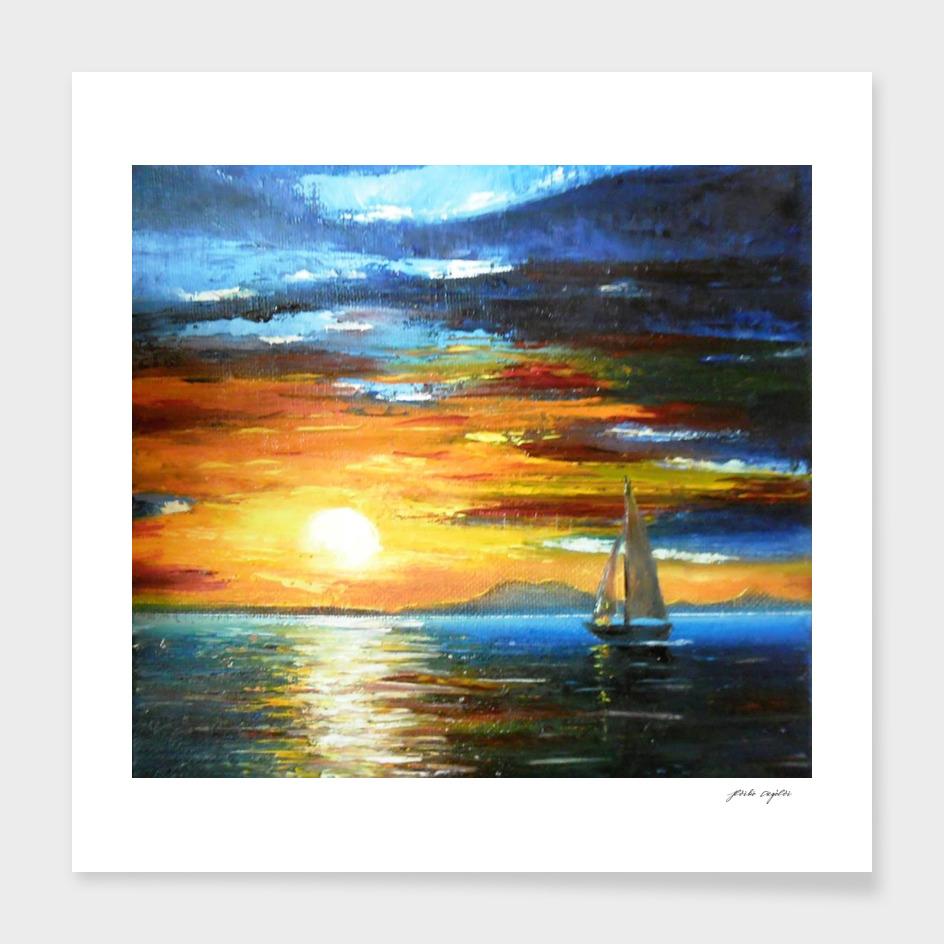Sunset On The Lake Balaton
