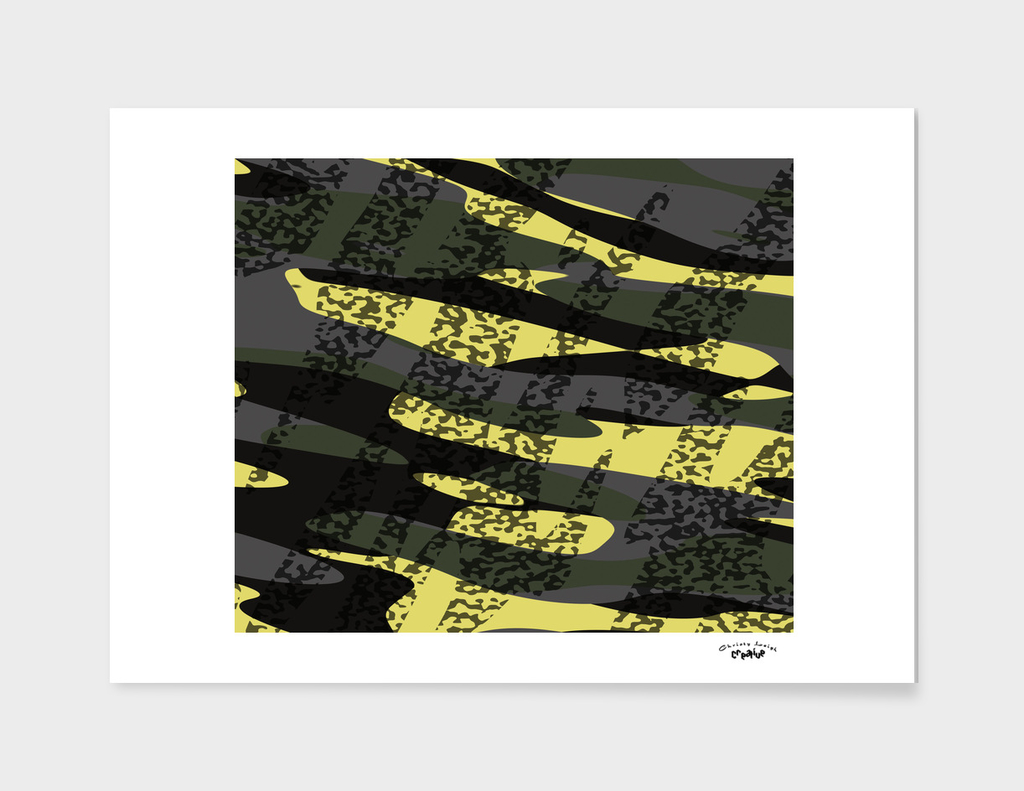 yellow and gray camouflage abstract