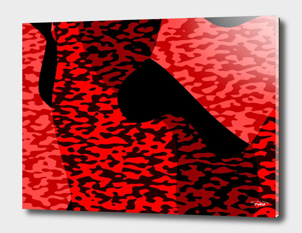 Red and Black Camouflage  2