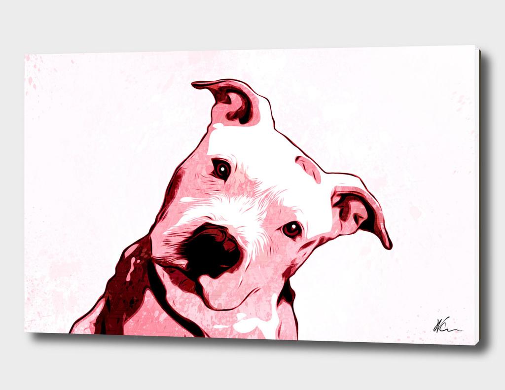 Pink Pit bull | Pop Art