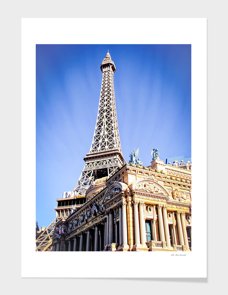 Eiffel tower at Las Vegas, USA with blue sky