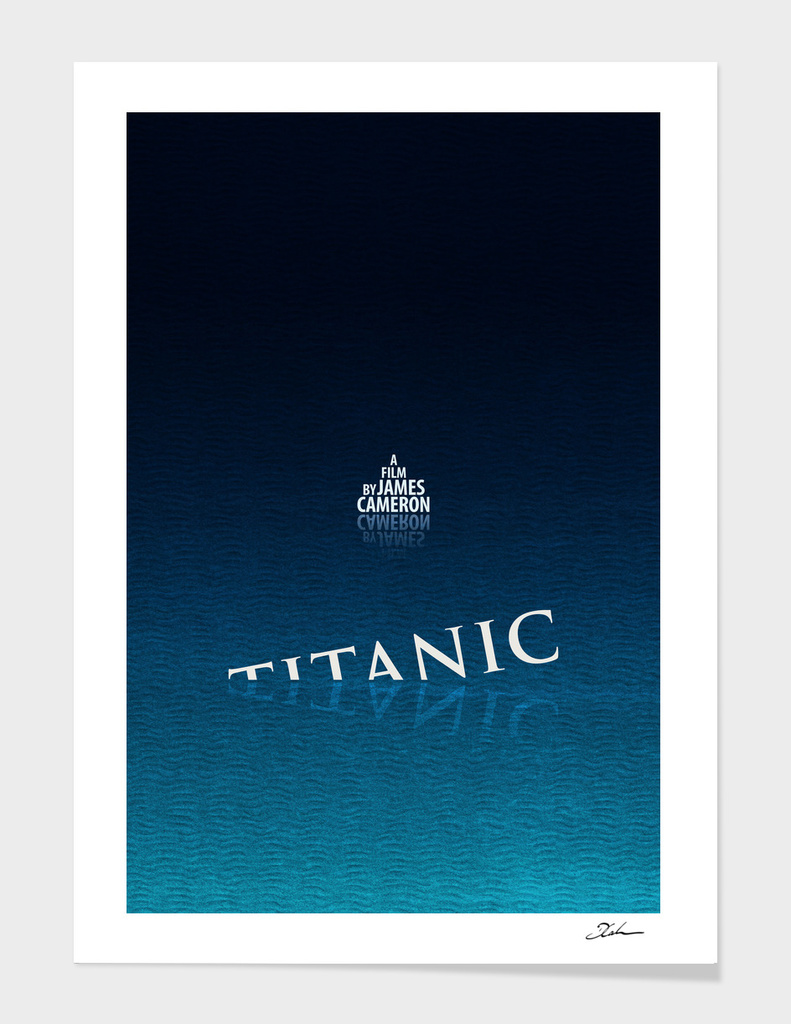 TITANIC / alternative typographic movie poster