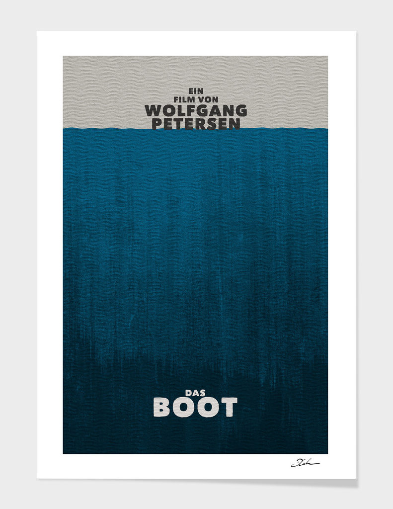 DAS BOOT / alternative typographic movie poster