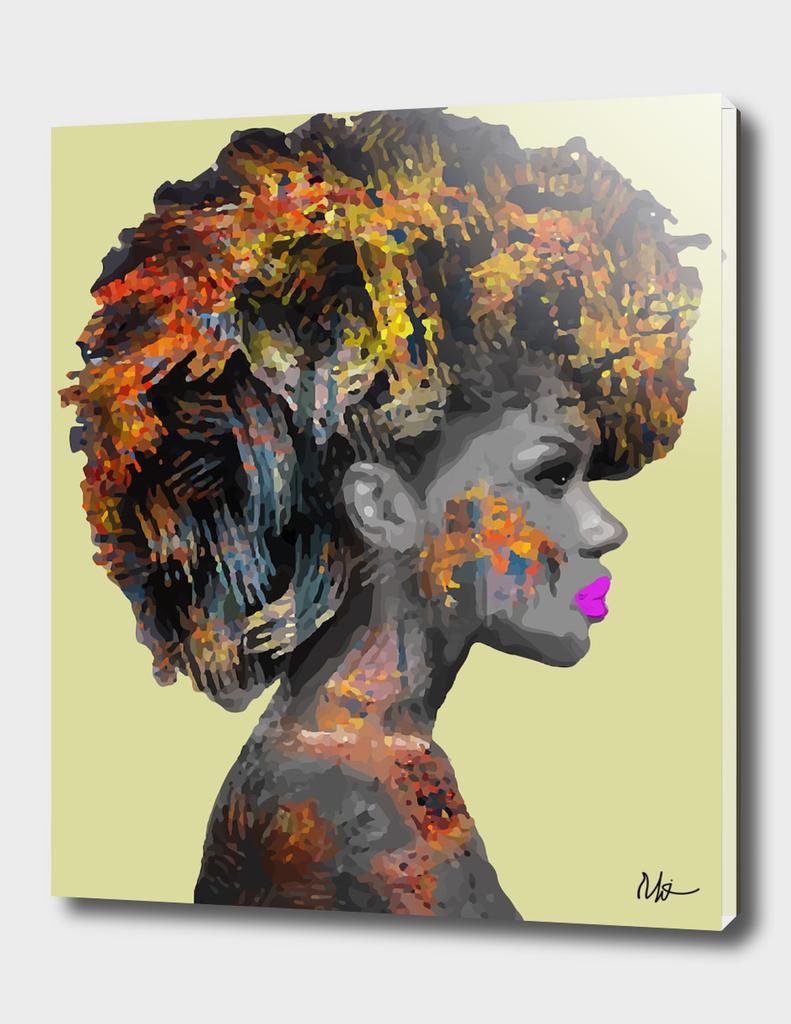 Afro lady