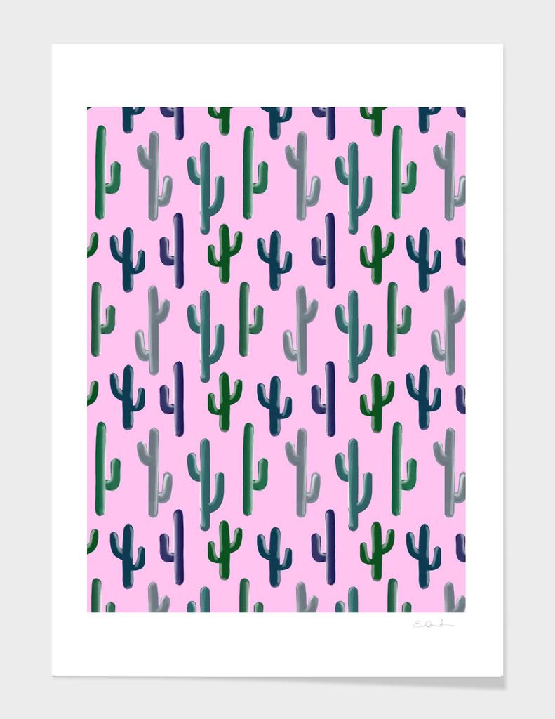 Cactus Pattern on Pink