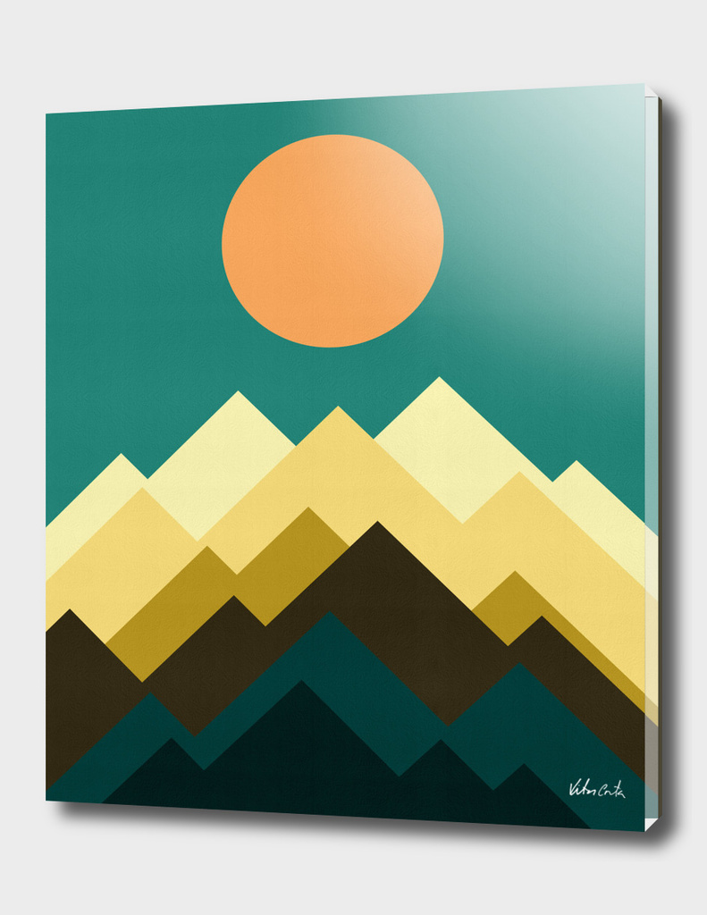 Geometric and minimalist landscape