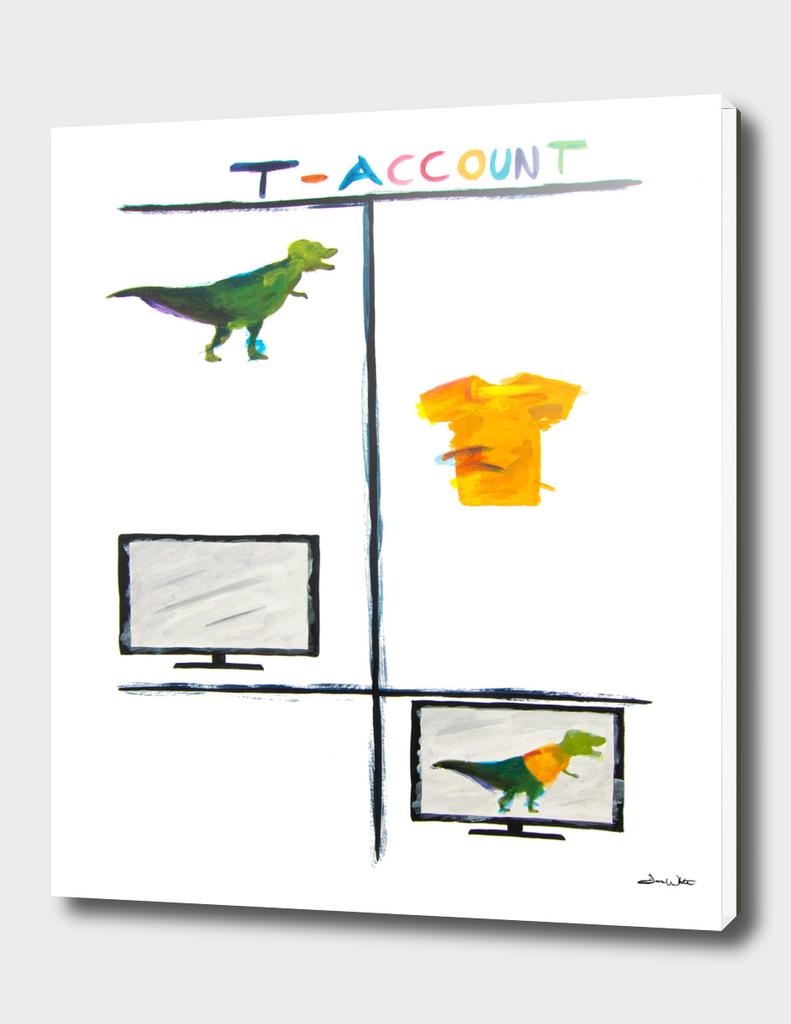 T-Rex T-Account Accounting Art