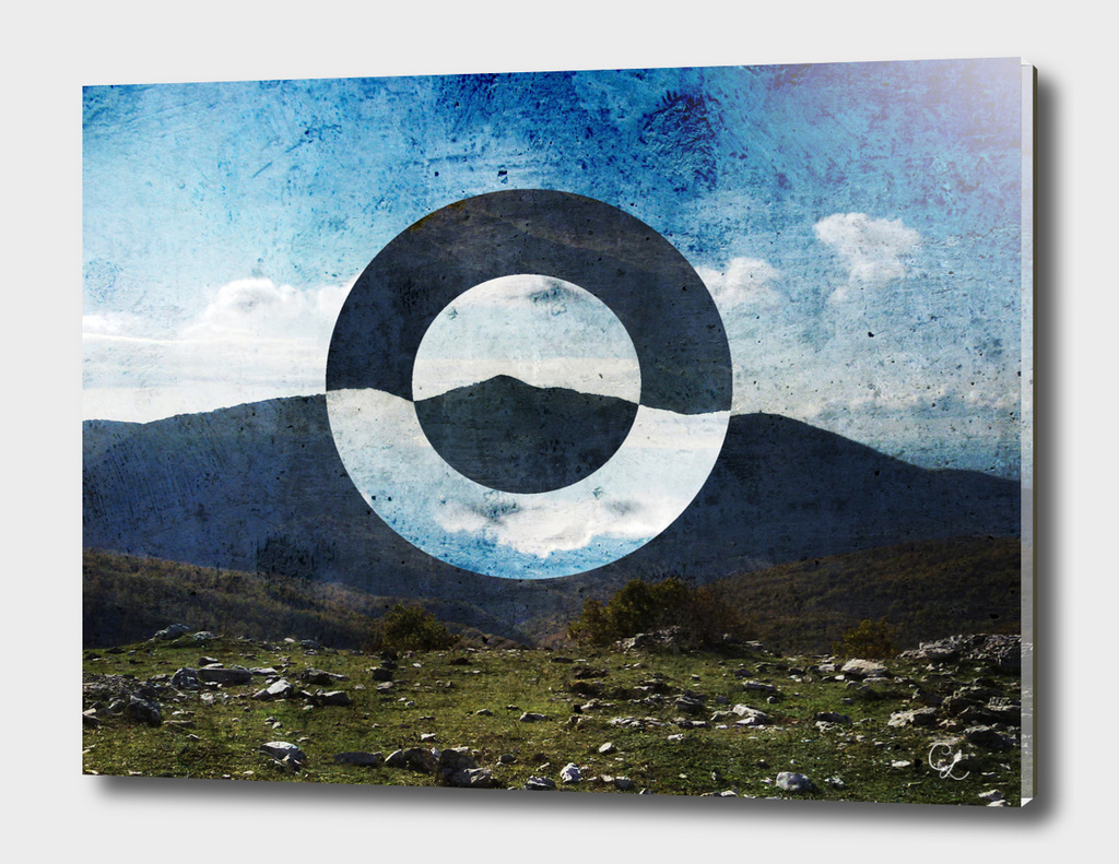 Mountains and circles n.2