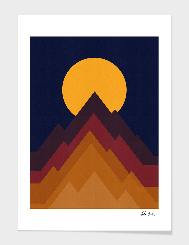Geometric and abstract landscape