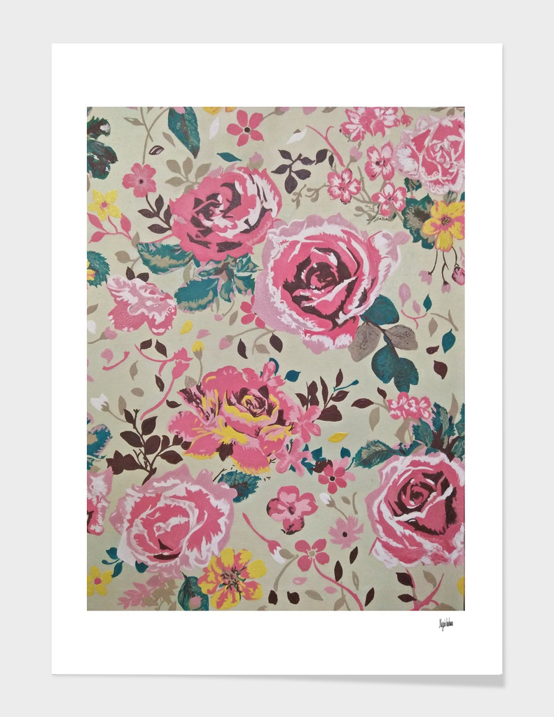 floral Print Oil painting