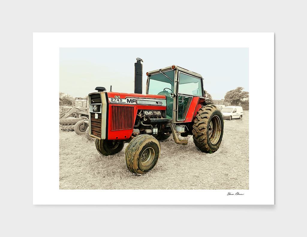 Massey Ferguson Standing Out in the Field