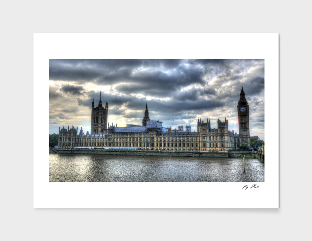 London Parliament HDR Sunset