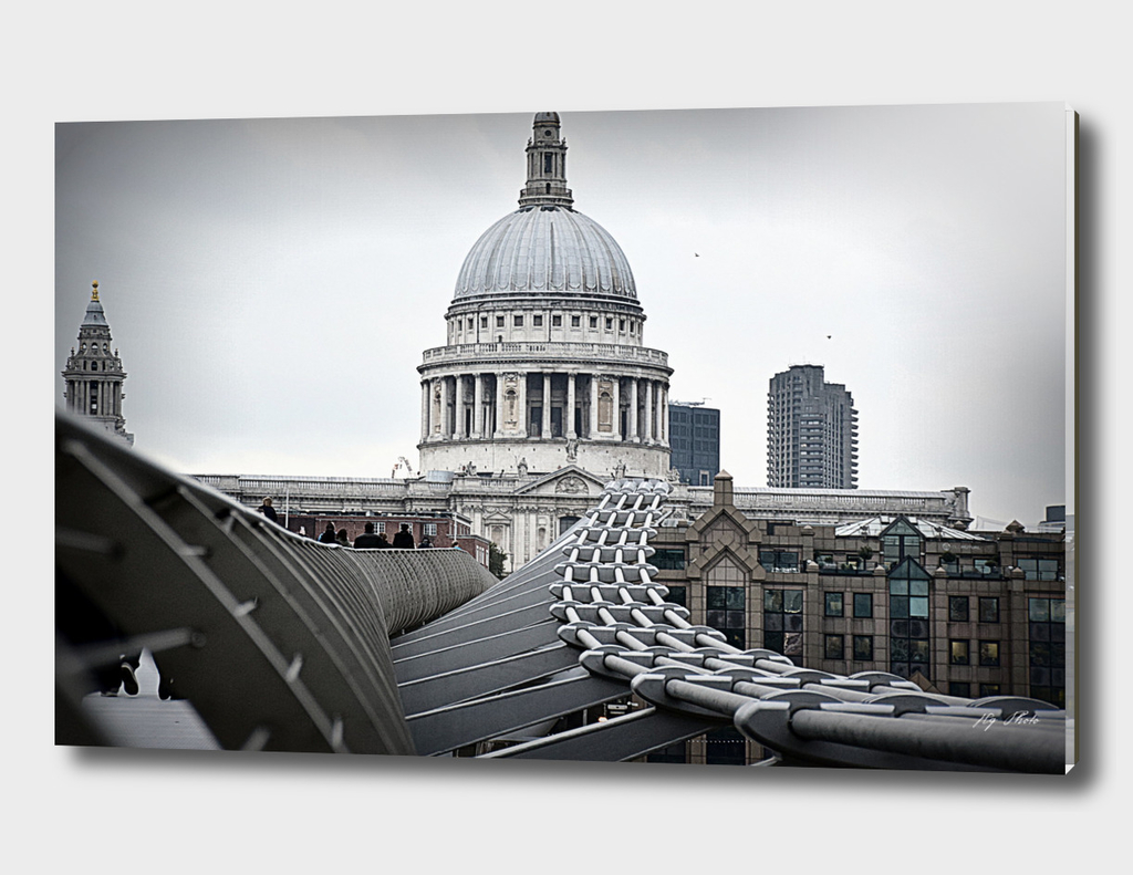 St Paul's Cathedral from Millenium Bridge