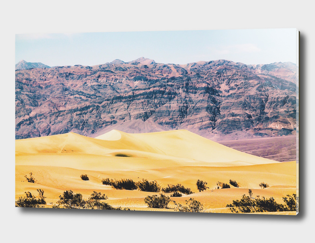 sand desert with mountain at Death Valley national park, USA