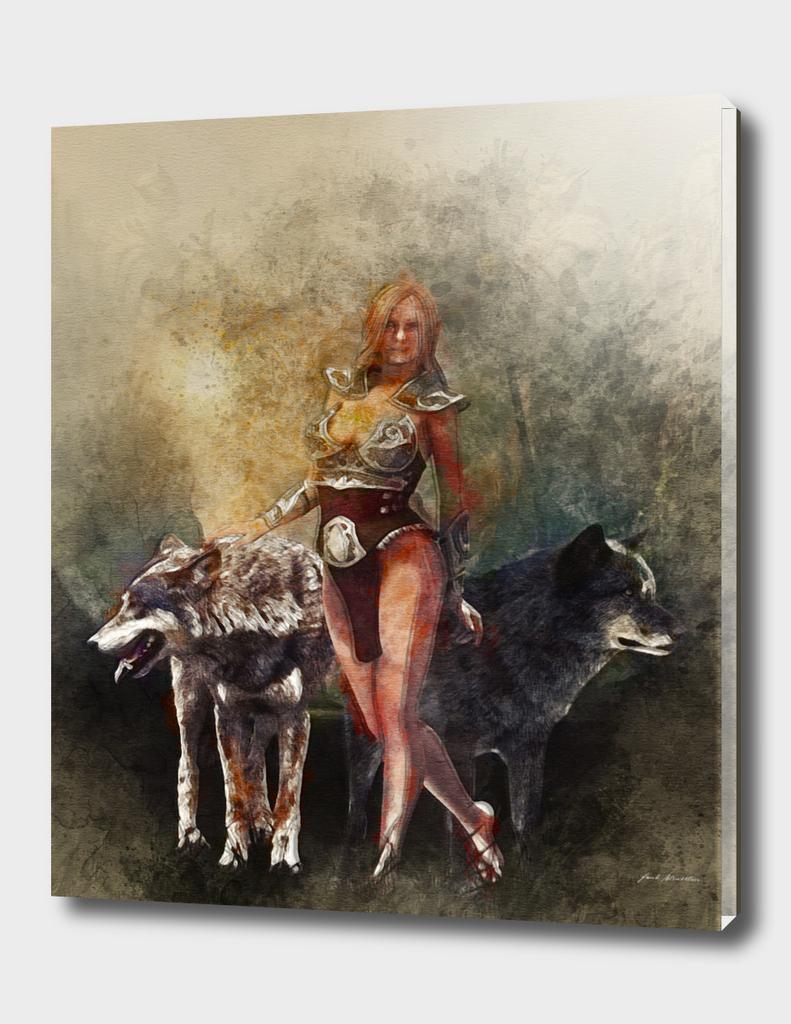 wolf's queen watercolor