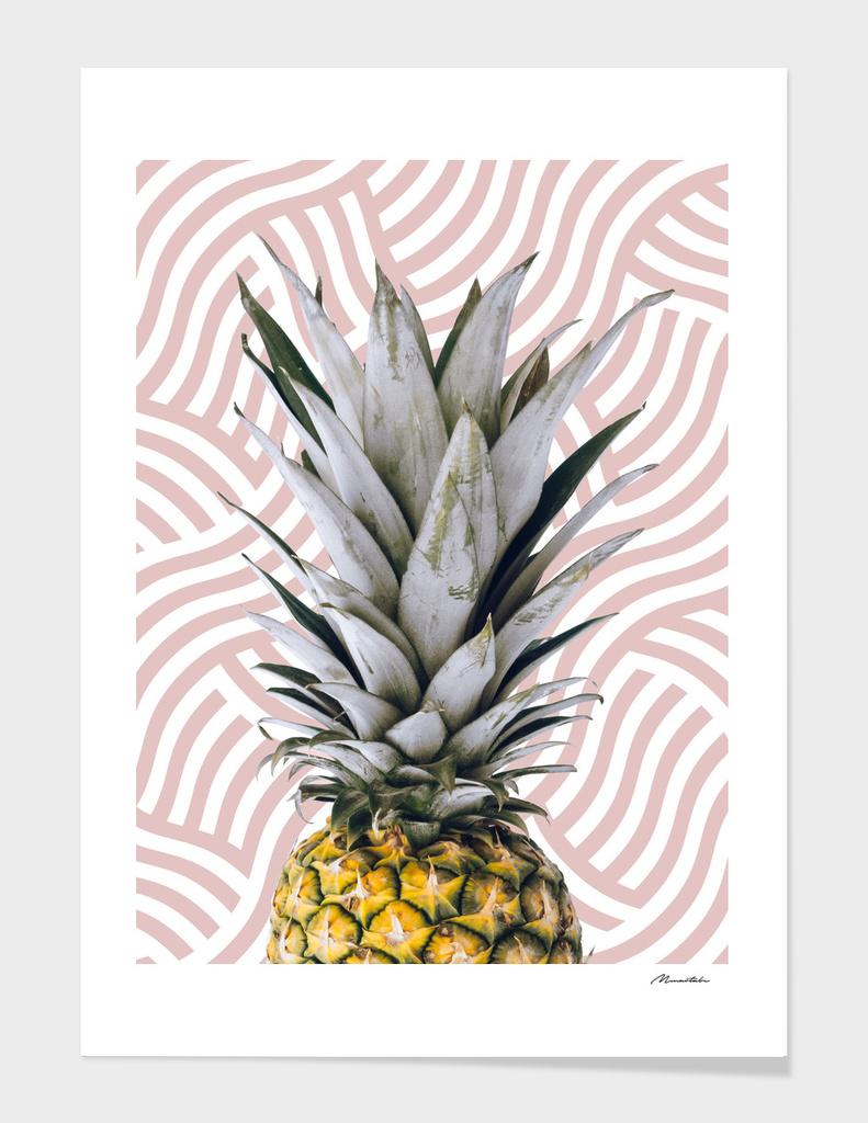 Pineapple on wave pattern