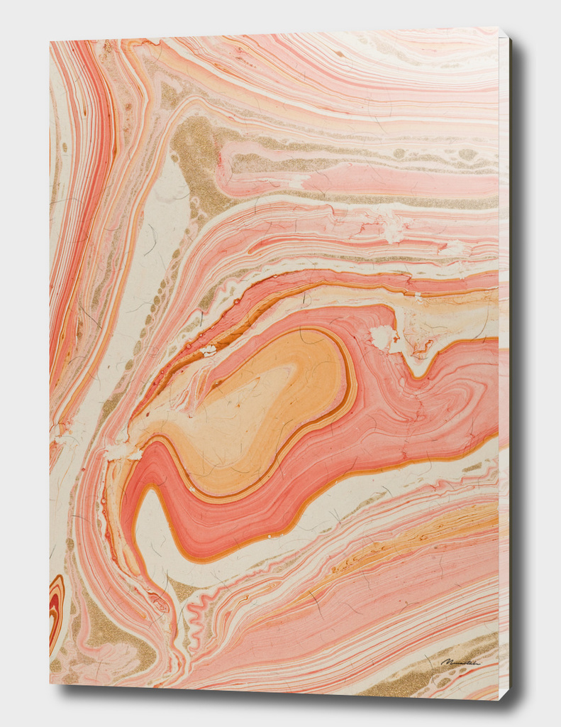 Marbled paper Pink