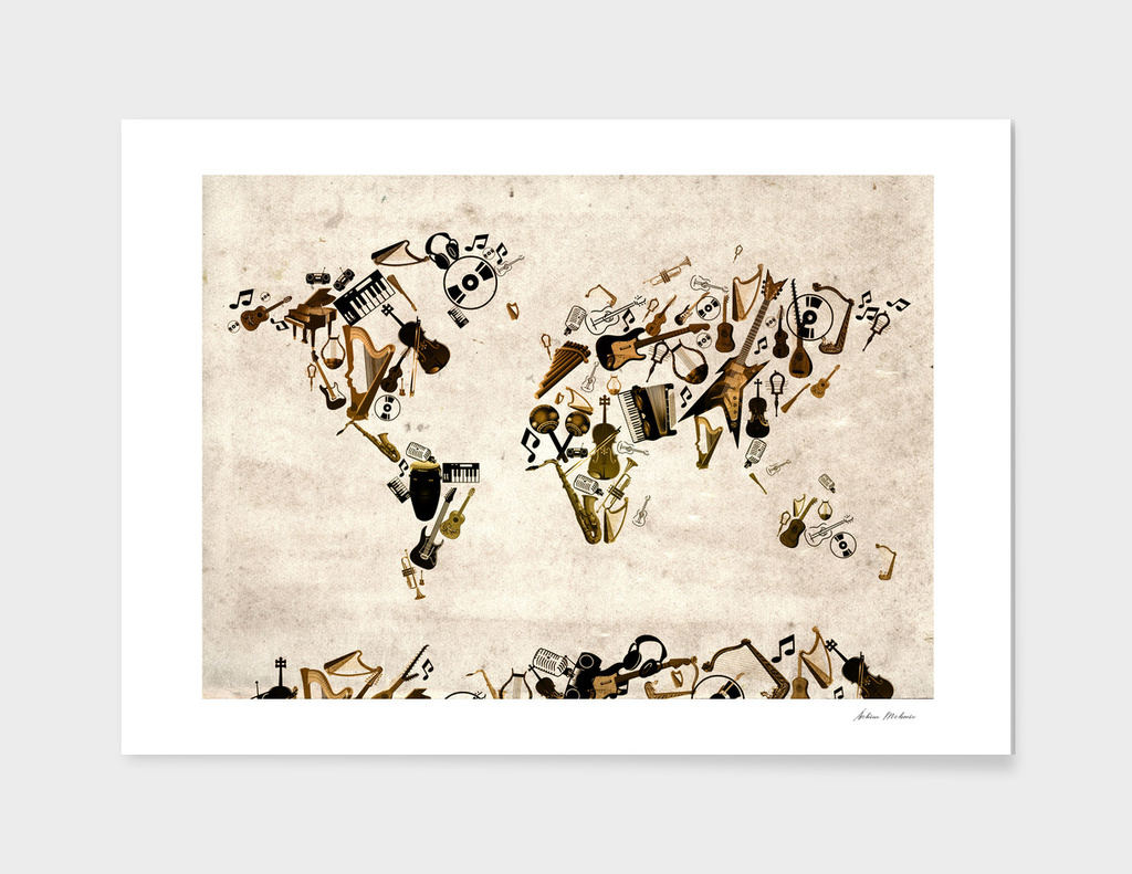 world map music instruments 2
