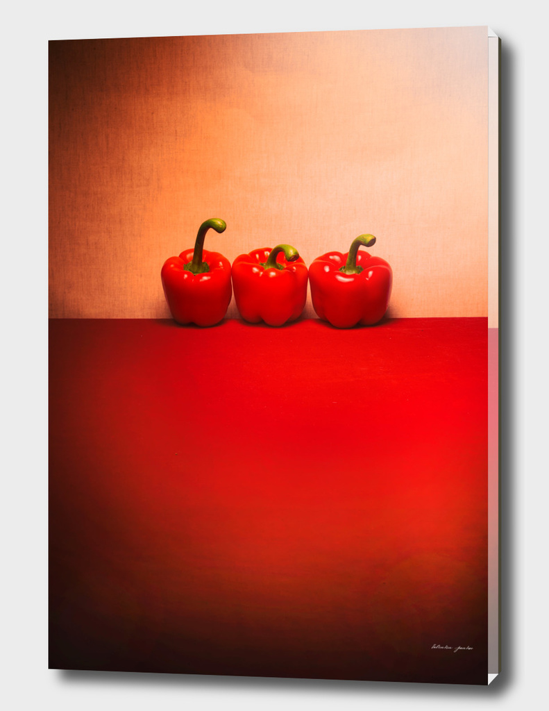 Very simple still life with pepper