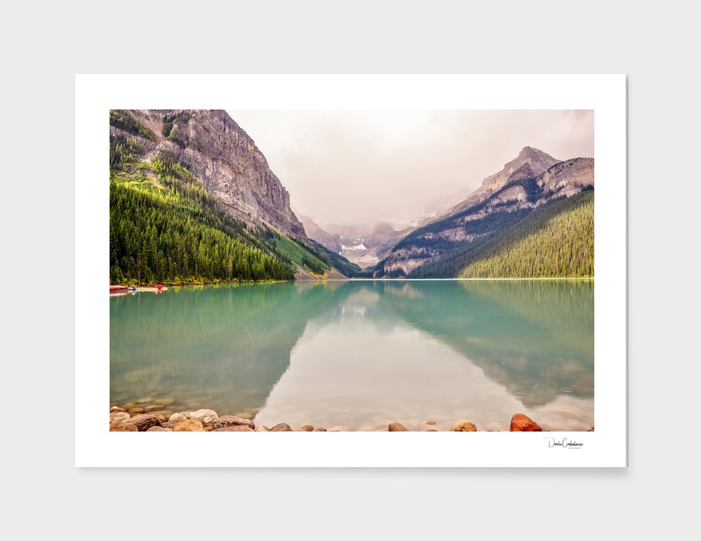 Beautiful water color of Lake Louise