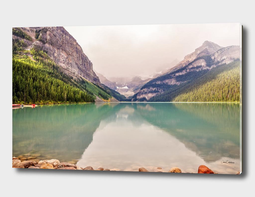 Beautiful water color of Lake Louise