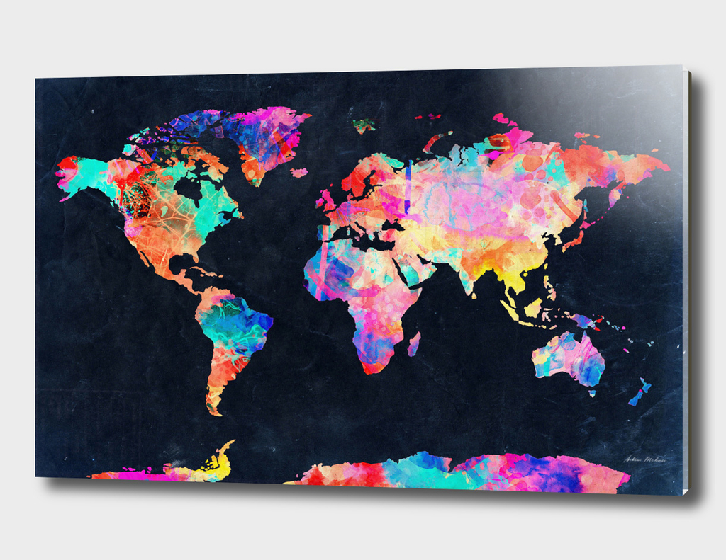 World map watercolor 6