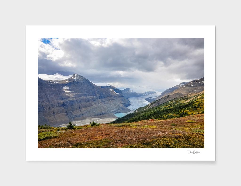 Saskatchewan glacier in Alberta, Canada