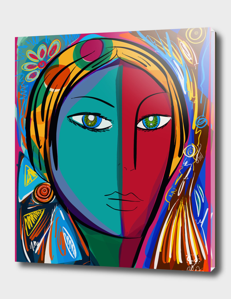 Pop Portrait Girl Fauvism