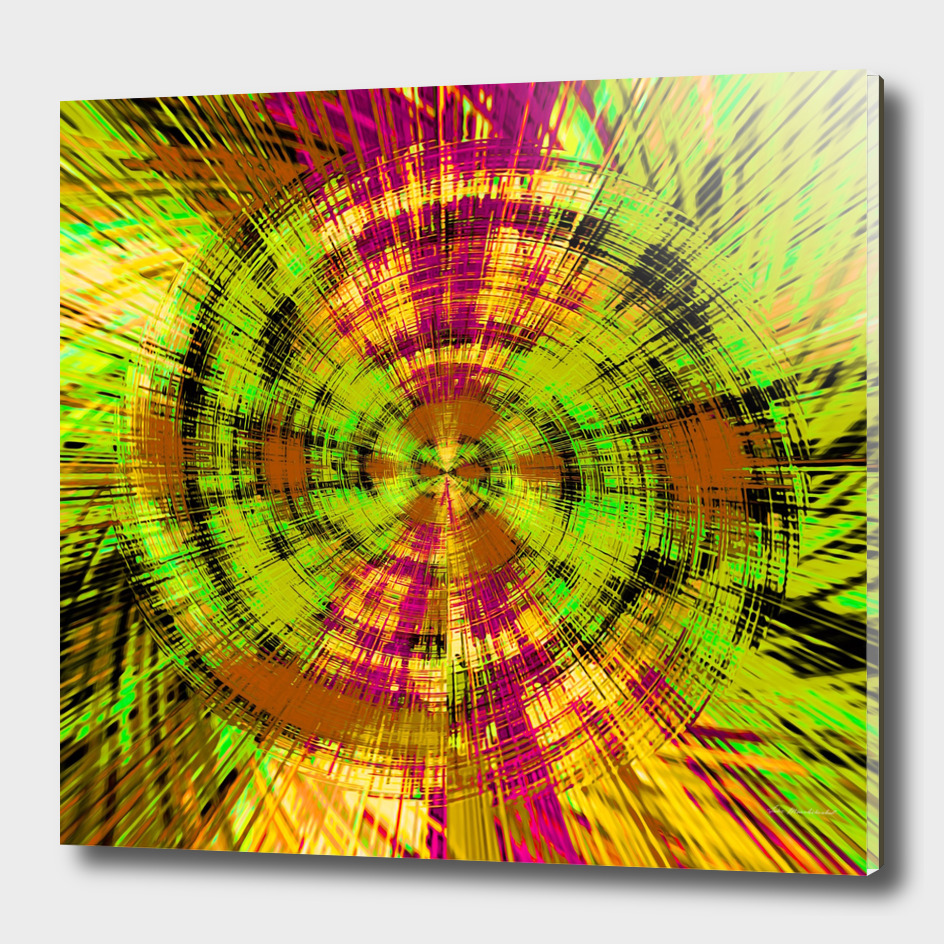 vintage psychedelic splash abstract pattern in green brown