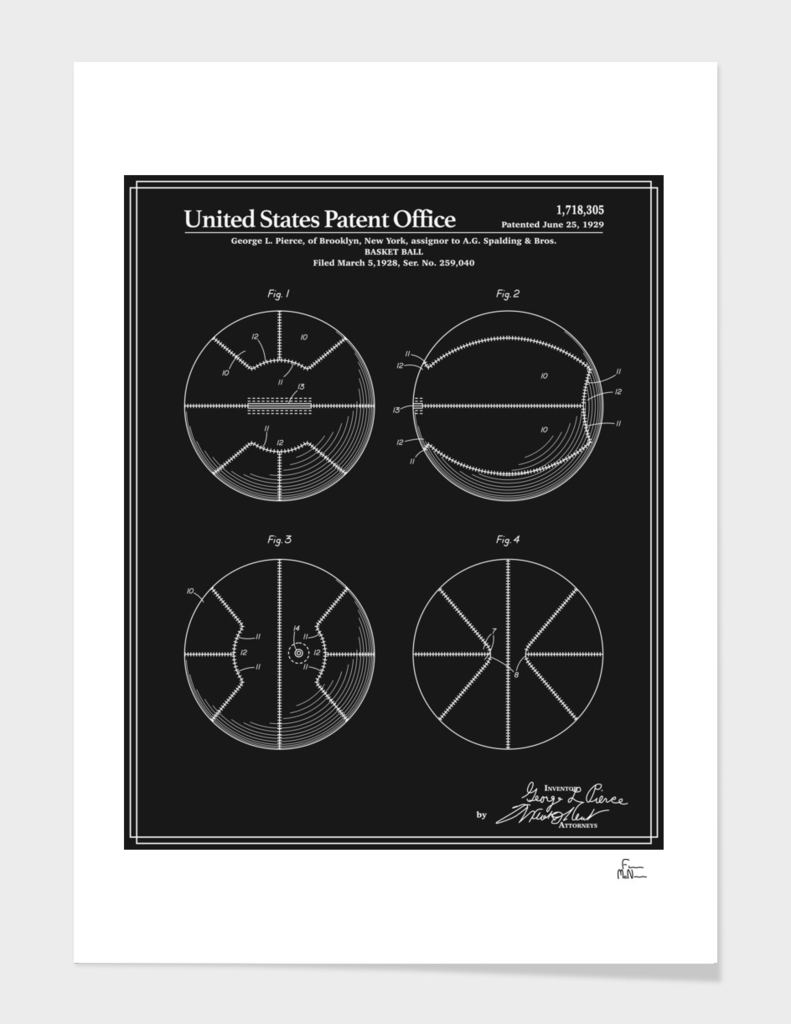 Basketball Patent - Black