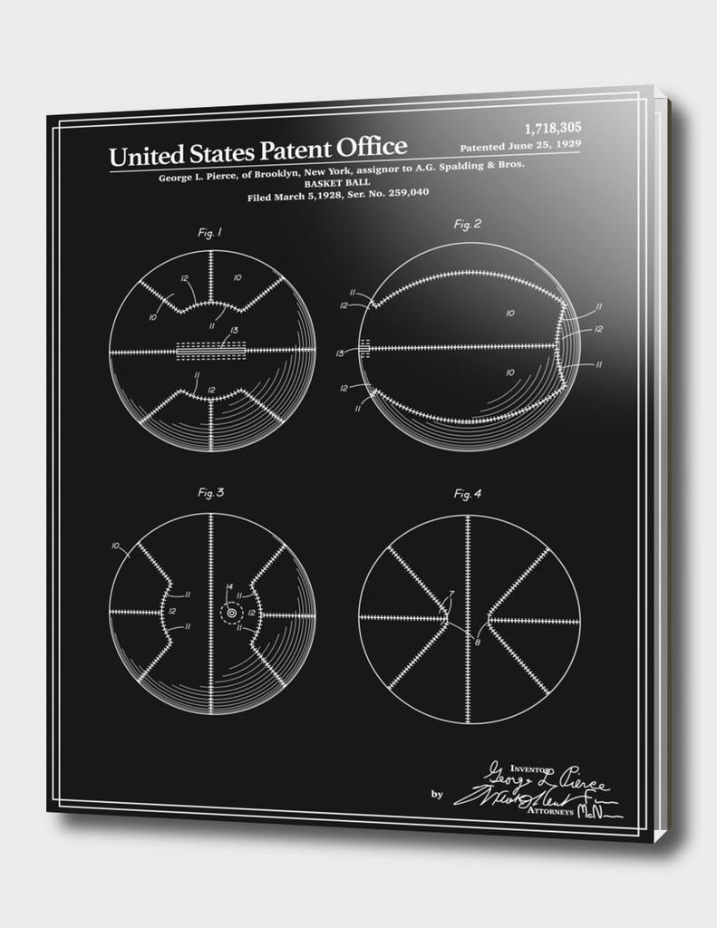 Basketball Patent - Black