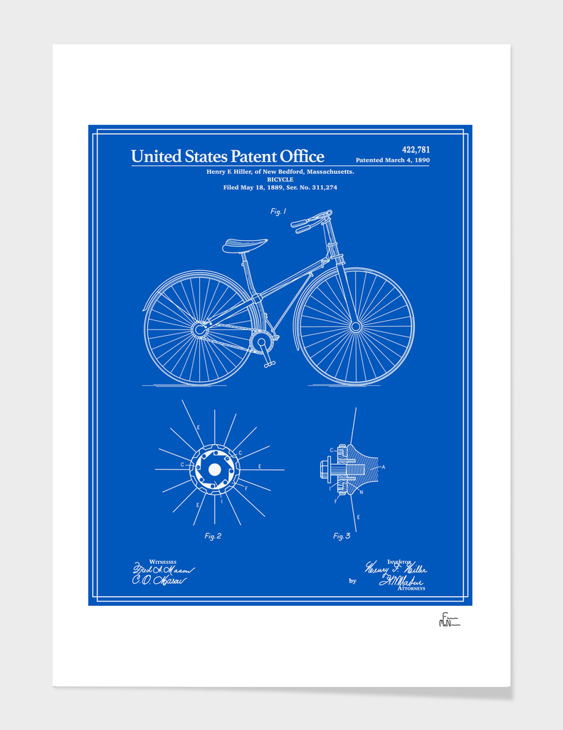 Bicycle Patent - Blueprint