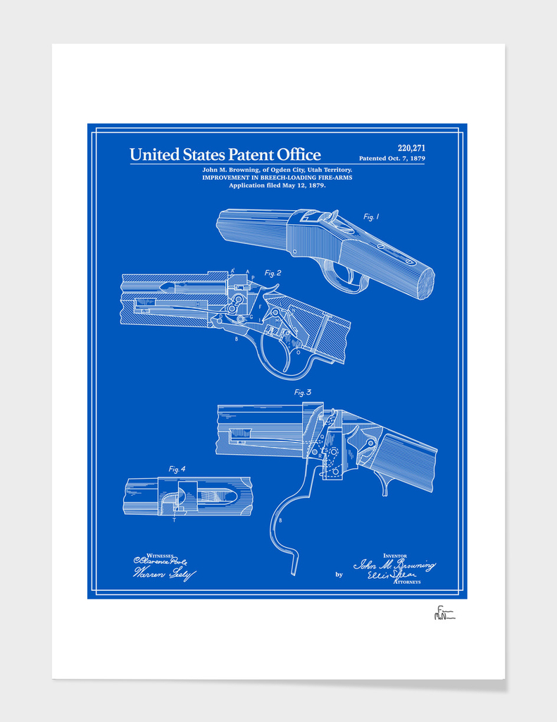 Breech Loading Rifle Patent - Blueprint