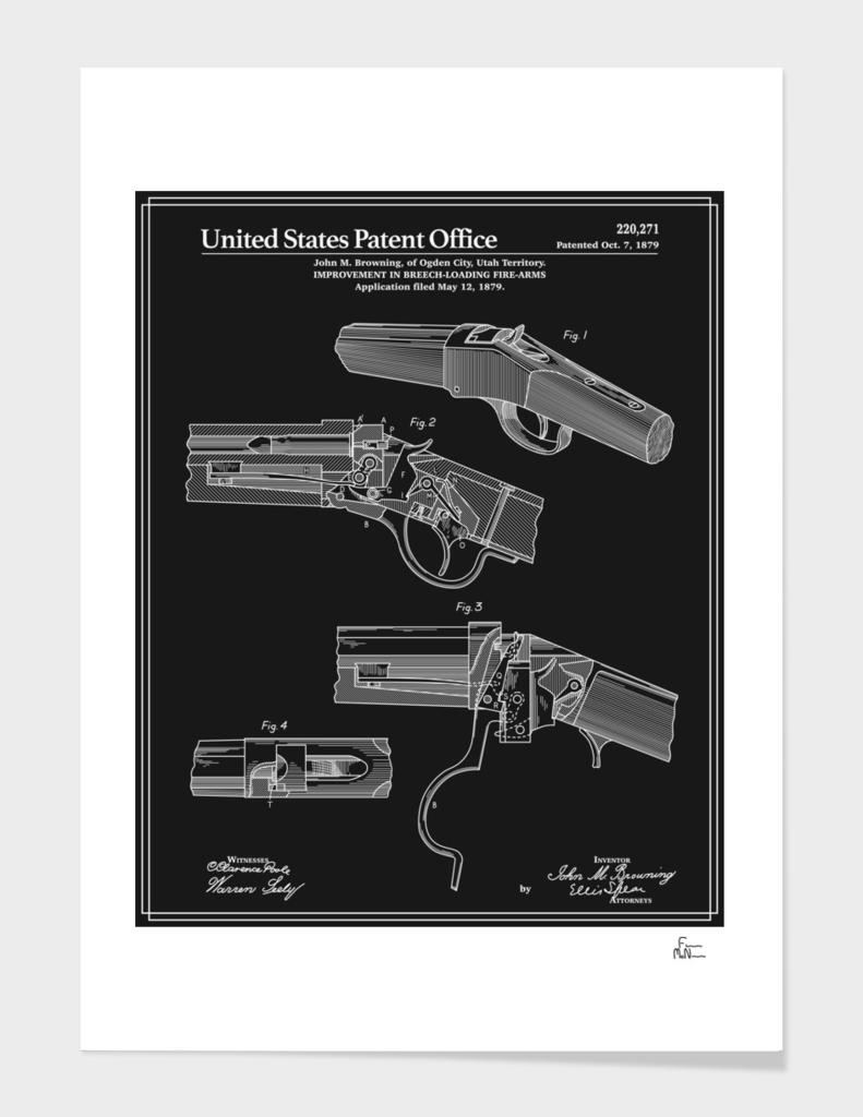 Breech Loading Rifle Patent - Black