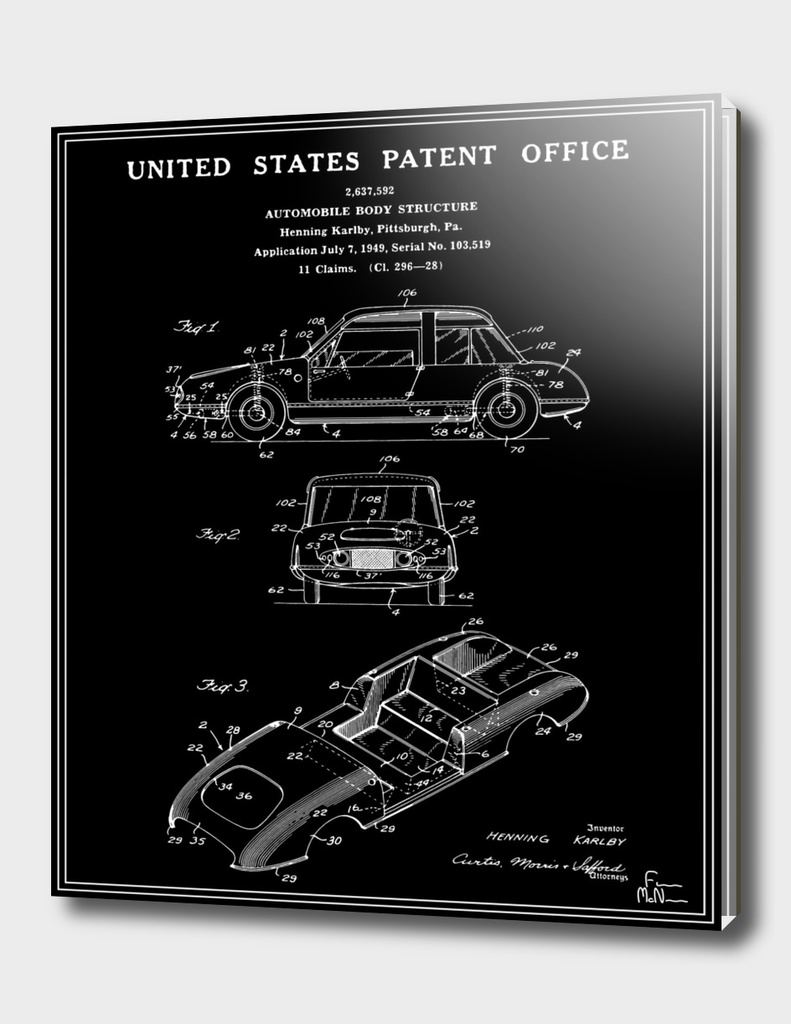 Automobile Body Patent - Black
