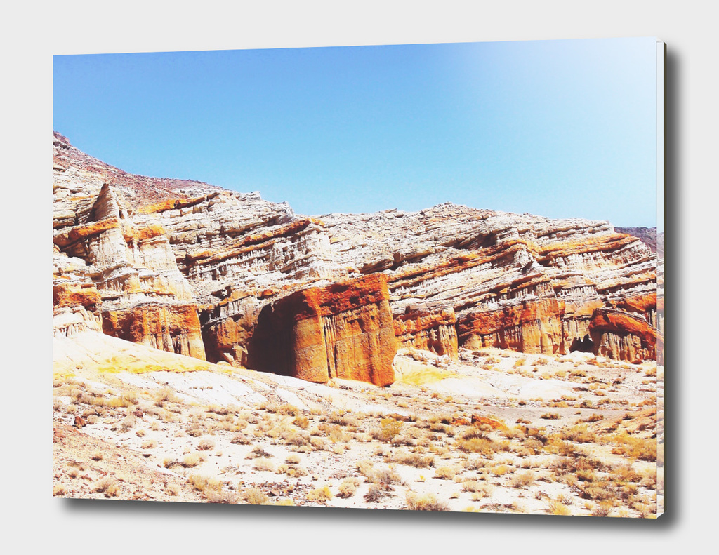 sand desert with orange mountain in California, USA