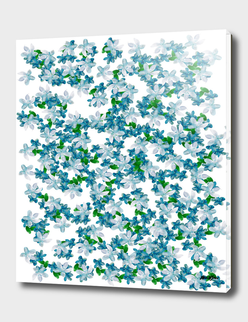 Summer Blues, Floral Pattern