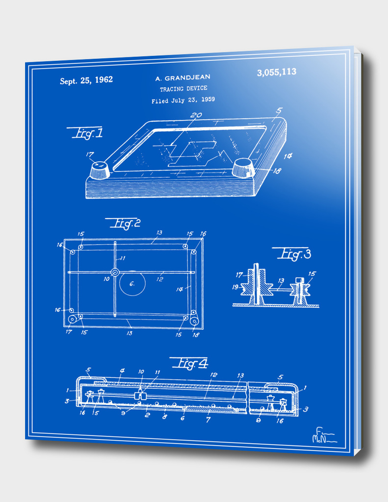 Tracing Device Patent - Blueprint