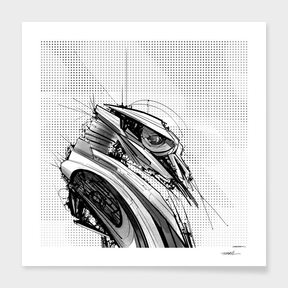 Robot 66 (B/W)