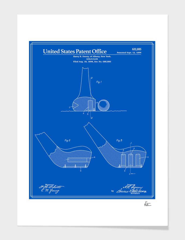 Golf Club Patent - Blueprint