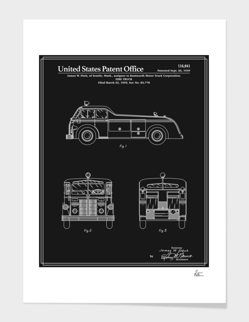 Firetruck Patent v1 - Black