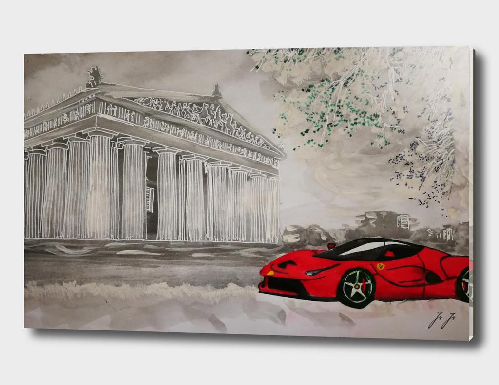 Ferrari in landscapes