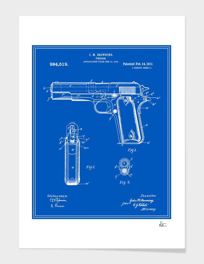 Handgun Patent - Blueprint