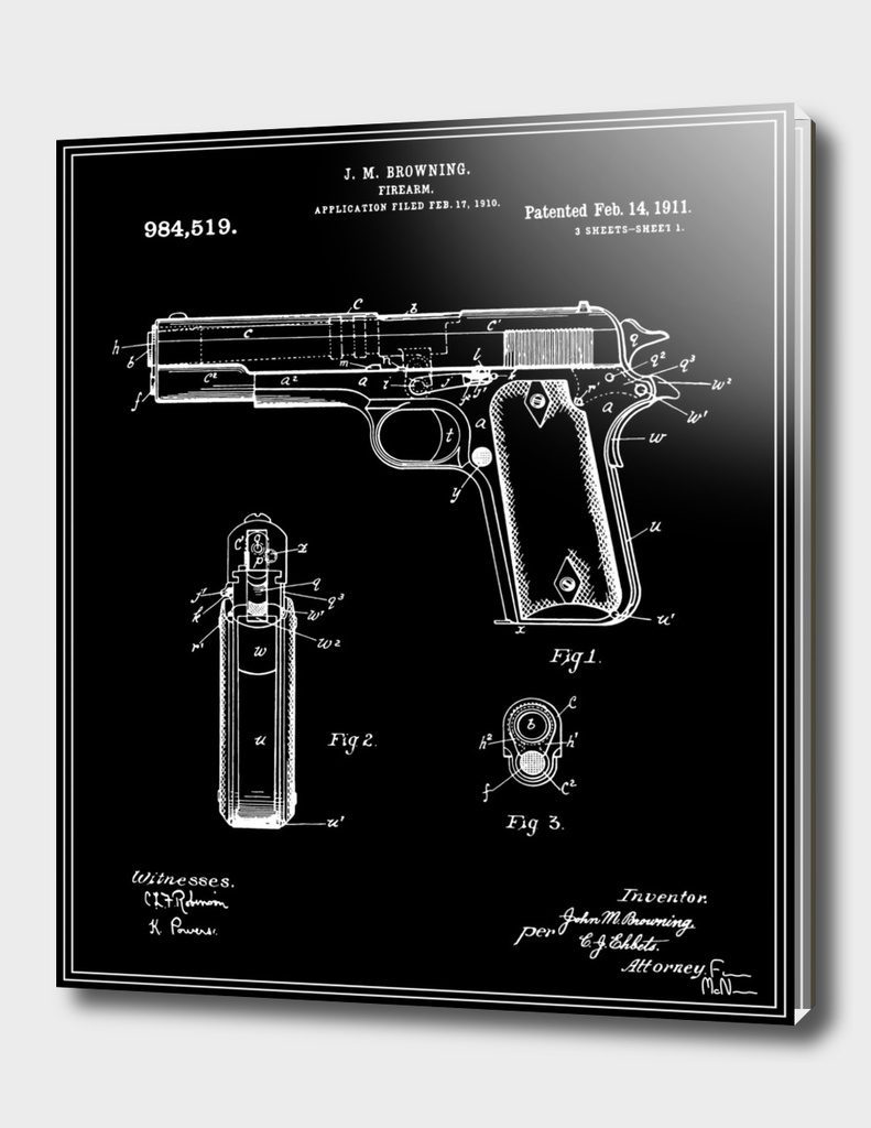 Handgun Patent - Black