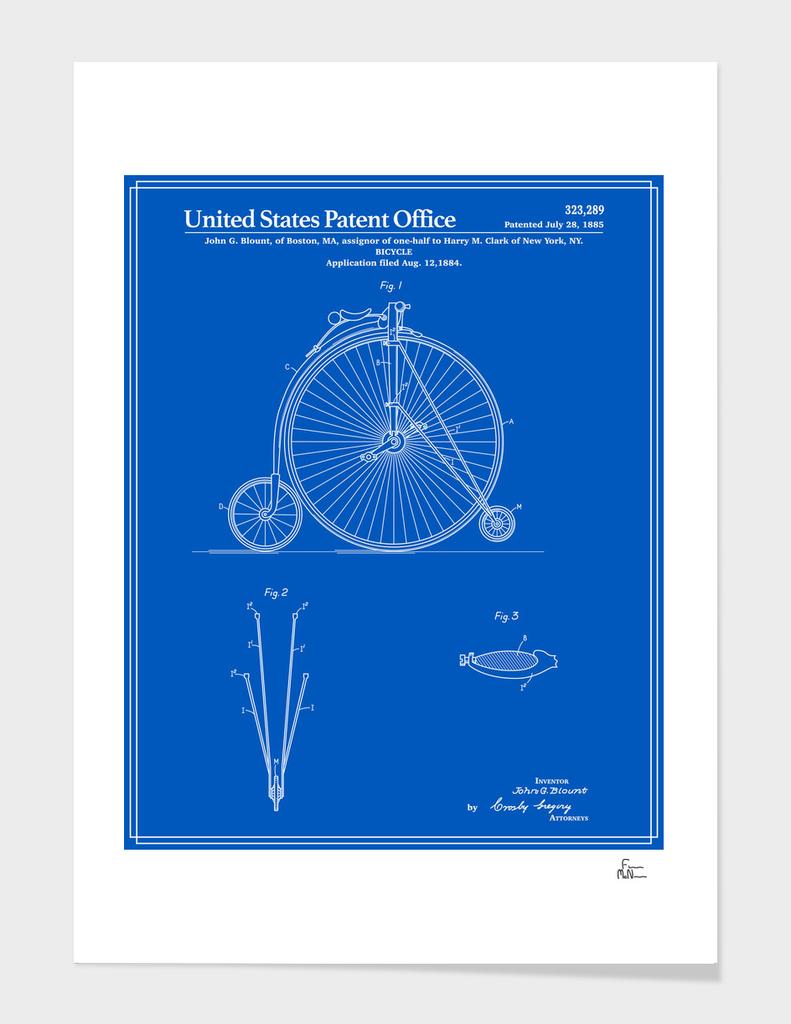 High Wheel Bicycle Patent - Blueprint