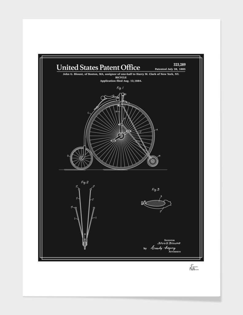 High Wheel Bicycle Patent - Black