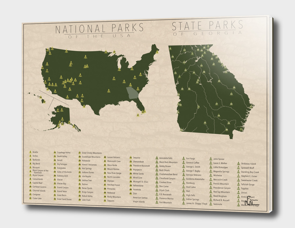 Us National Parks - Georgia