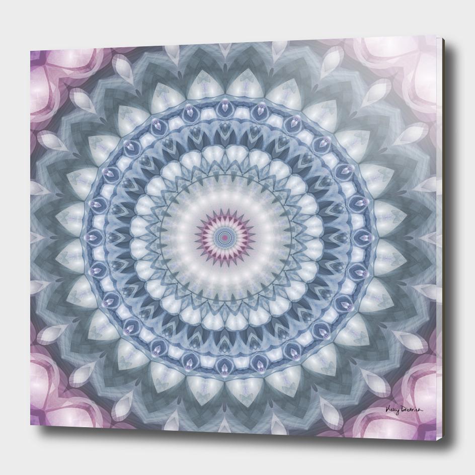 Plum and Grey Mandala